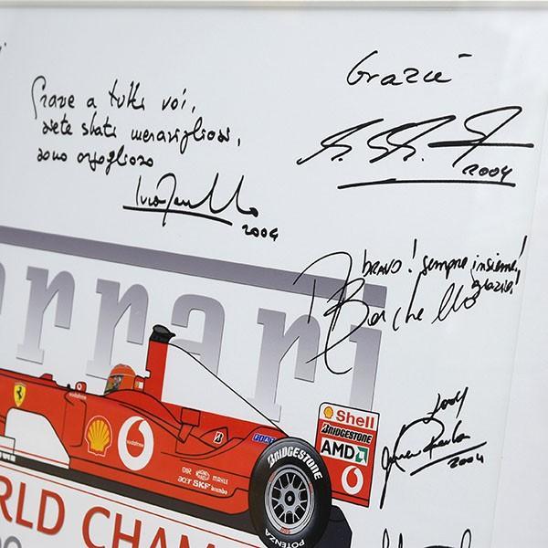 スクーデリア フェラーリ 2004 F1ワールドチャンピオンメモリアル額装ポスター|itazatsu|05