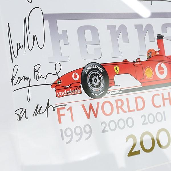 スクーデリア フェラーリ 2004 F1ワールドチャンピオンメモリアル額装ポスター|itazatsu|07