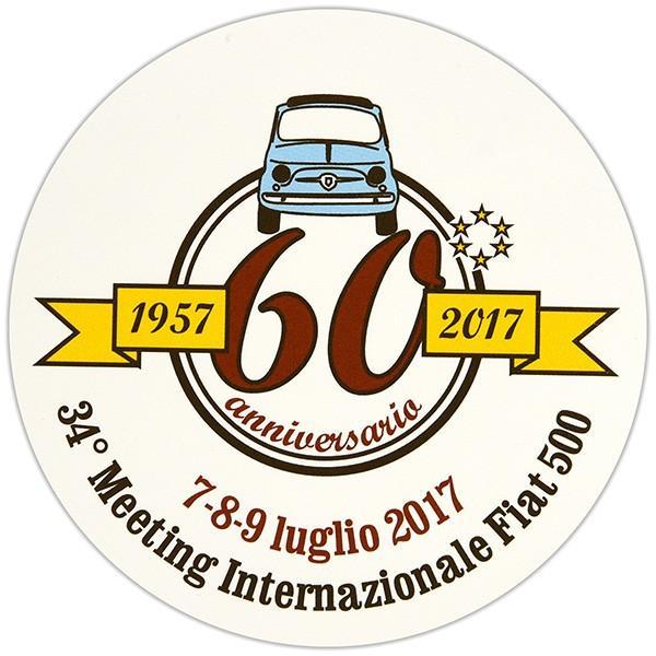 フィアット FIAT 500 CLUB ITALIA 500 60周年記念ステッカー|itazatsu