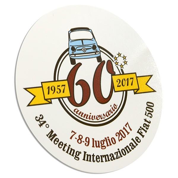 フィアット FIAT 500 CLUB ITALIA 500 60周年記念ステッカー|itazatsu|02