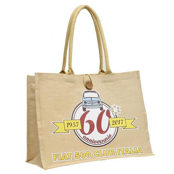 フィアット FIAT 500 CLUB ITALIA 500 60周年記念キャンバストートバッグ|itazatsu