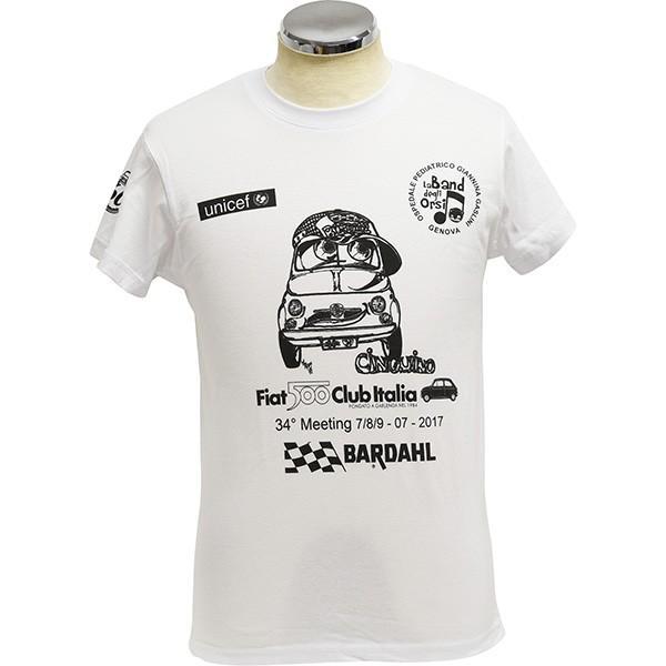 フィアット FIAT 500 CLUB ITALIAクラブミーティング2017記念Tシャツ|itazatsu