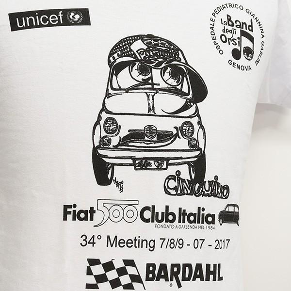 フィアット FIAT 500 CLUB ITALIAクラブミーティング2017記念Tシャツ|itazatsu|03