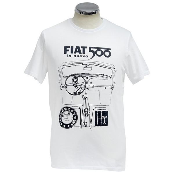フィアット純正 Nuova 500Tシャツ(ホワイト)|itazatsu