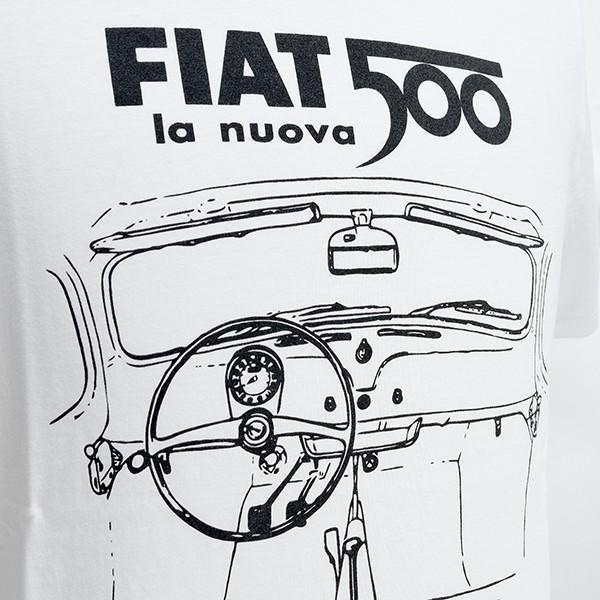 フィアット純正 Nuova 500Tシャツ(ホワイト)|itazatsu|03
