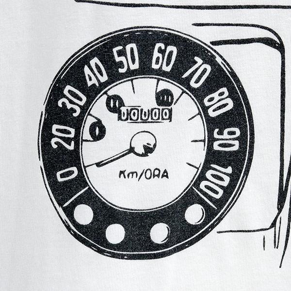 フィアット純正 Nuova 500Tシャツ(ホワイト)|itazatsu|04
