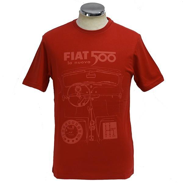 フィアット純正 Nuova 500Tシャツ(レッド)|itazatsu