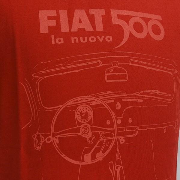 フィアット純正 Nuova 500Tシャツ(レッド)|itazatsu|03