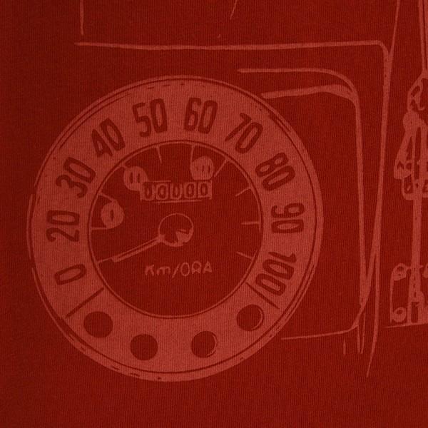 フィアット純正 Nuova 500Tシャツ(レッド)|itazatsu|05