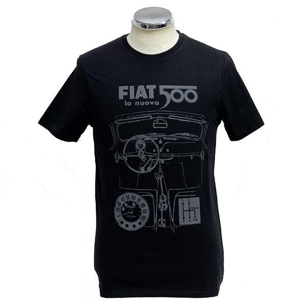 フィアット純正 Nuova 500Tシャツ(ブラック) itazatsu