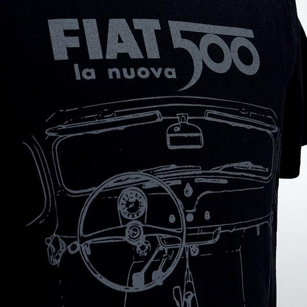 フィアット純正 Nuova 500Tシャツ(ブラック) itazatsu 03