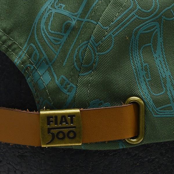 フィアット純正 Nuova 500ベースボールキャップ(グリーン)|itazatsu|05