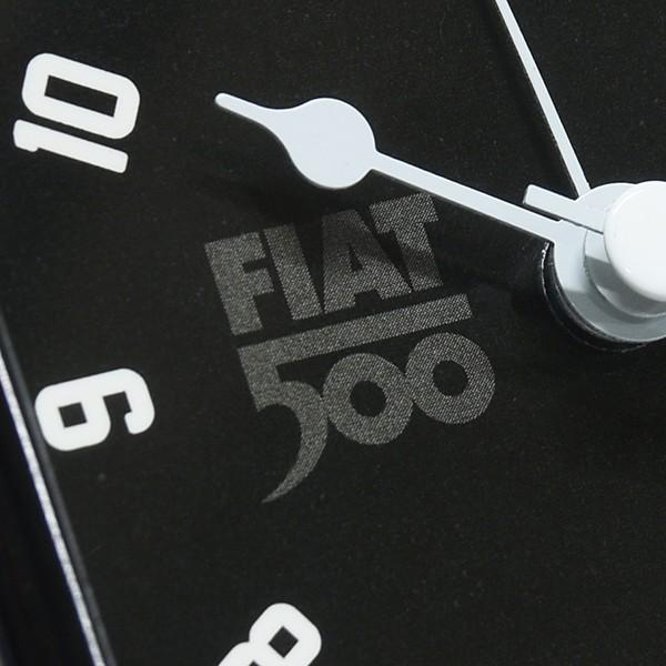フィアット純正 Nuova 500アラームクロック(ブラック)|itazatsu|03