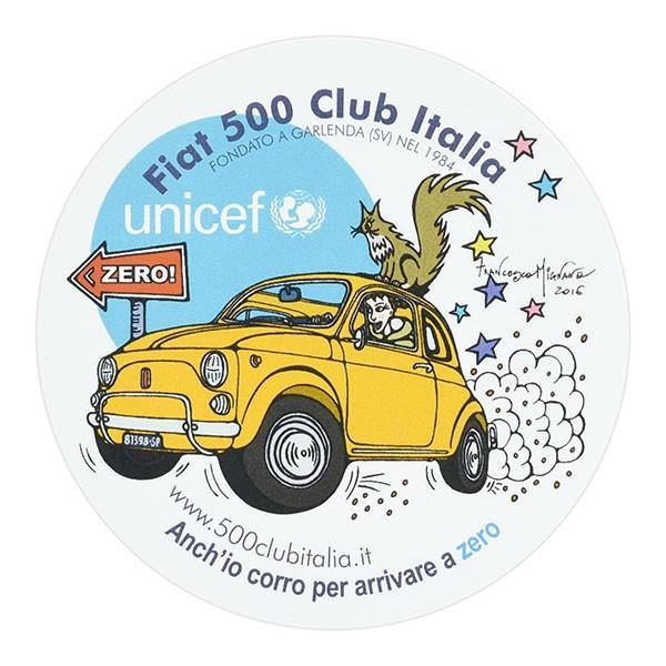 フィアット FIAT 500 CLUB ITALIA UNICEF ZEROステッカー|itazatsu