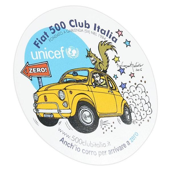 フィアット FIAT 500 CLUB ITALIA UNICEF ZEROステッカー|itazatsu|02