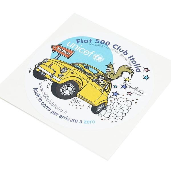フィアット FIAT 500 CLUB ITALIA UNICEF ZEROステッカー|itazatsu|03
