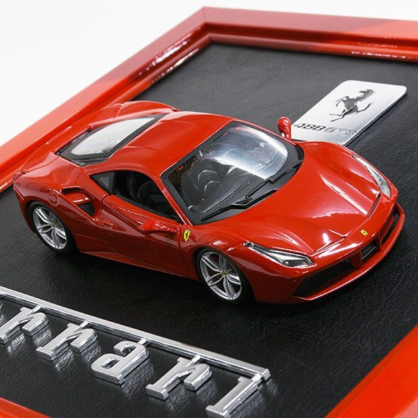フェラーリ 488GTB額装オブジェ itazatsu 04