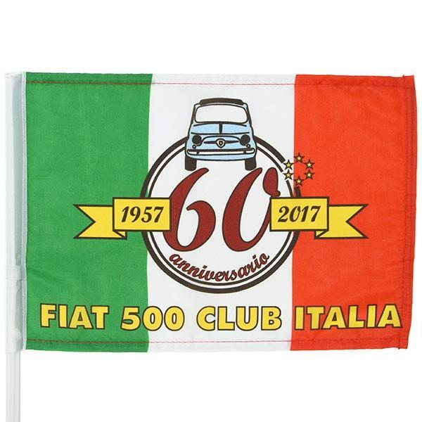 フィアット FIAT 500 CLUB ITALIA FIAT 500 60周年記念ウィンドウフラッグ itazatsu 02