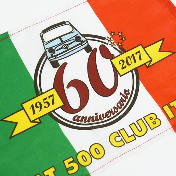 フィアット FIAT 500 CLUB ITALIA FIAT 500 60周年記念ウィンドウフラッグ itazatsu 03