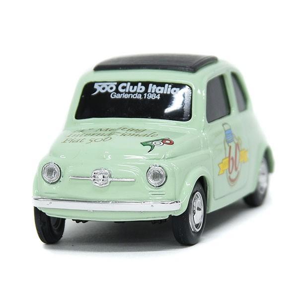 1/43 フィアット FIAT 500 CLUB ITALIA FIAT 500 60周年記念ミニチュアモデル(グリーン)|itazatsu