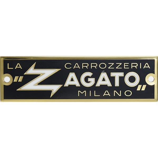 CARROZZERIA ZAGATO MILANOエンブレムプレート(ゴールド)|itazatsu