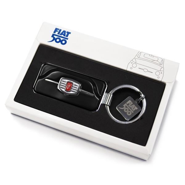 フィアット純正 Nuova 500フロントグリルキーリング(ブラック)|itazatsu|05