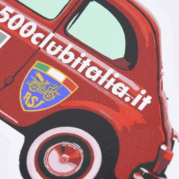 フィアット FIAT 500 CLUB ITALIAオフィシャルステッカー(車型/Type B)|itazatsu|04