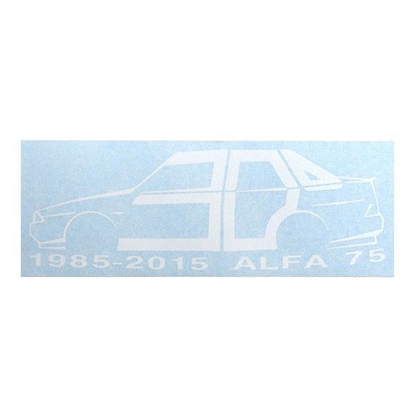 アルファロメオ 75 30周年記念ロゴステッカー(ホワイト) by RIA(Registro Italiano Alfa Romeo)|itazatsu|02