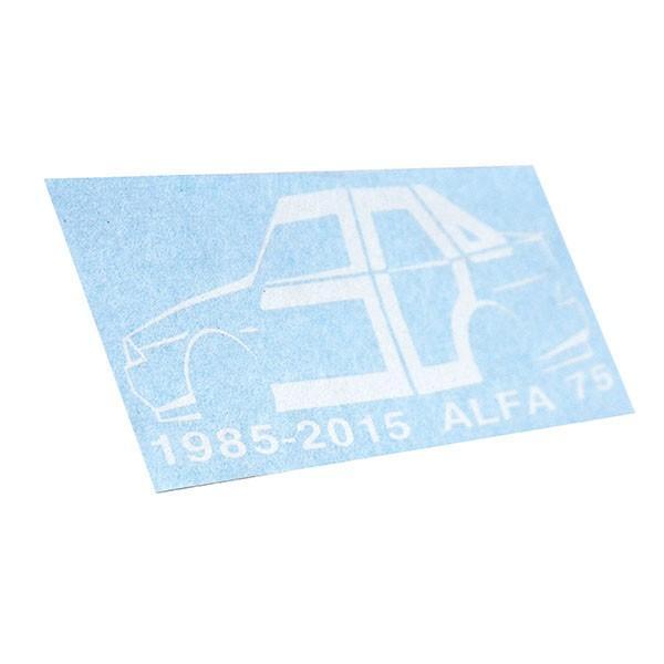 アルファロメオ 75 30周年記念ロゴステッカー(ホワイト) by RIA(Registro Italiano Alfa Romeo)|itazatsu|03