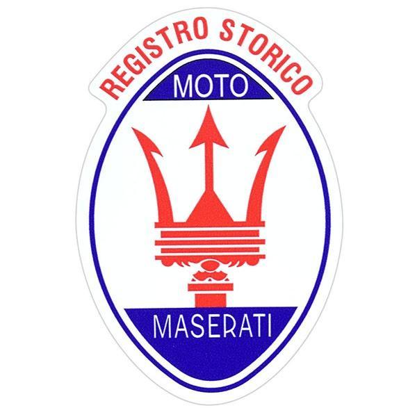 Registro Storico MOTO MASERATIエンブレムステッカー|itazatsu