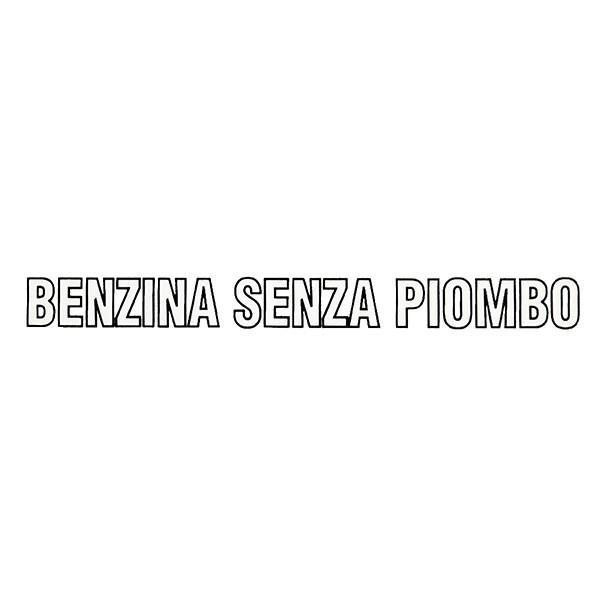 アルファロメオ/フィアット/ランチア純正 BENZINA SENZA PIOMBOロゴステッカー itazatsu