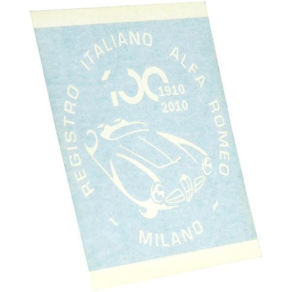 アルファロメオ創立100周年記念ロゴステッカー(ホワイト) by RIA(Registro Italiano Alfa Romeo)|itazatsu|03