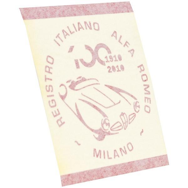 アルファロメオ創立100周年記念ロゴステッカー(レッド) by RIA(Registro Italiano Alfa Romeo)|itazatsu|03