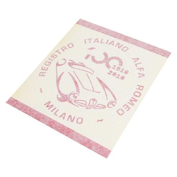 アルファロメオ創立100周年記念ロゴステッカー(レッド) by RIA(Registro Italiano Alfa Romeo)|itazatsu|04
