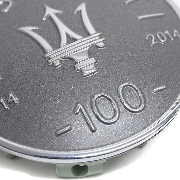 マセラティ純正 ホイールセンターキャップセット-100周年メモリアルヴァージョン/ライトグレー-|itazatsu|06