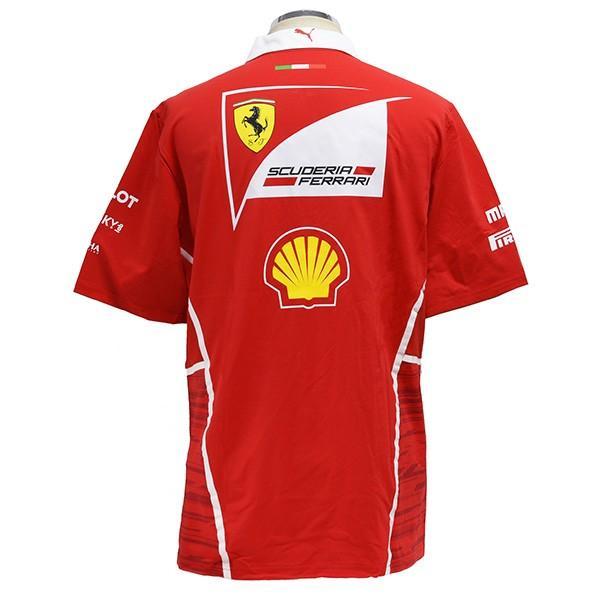 スクーデリア フェラーリ 2017ティームスタッフ用ジップアップポロシャツ-Ferrari 70thロゴタイプ-|itazatsu|03