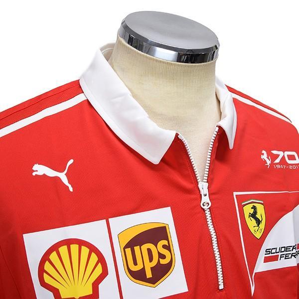 スクーデリア フェラーリ 2017ティームスタッフ用ジップアップポロシャツ-Ferrari 70thロゴタイプ-|itazatsu|04