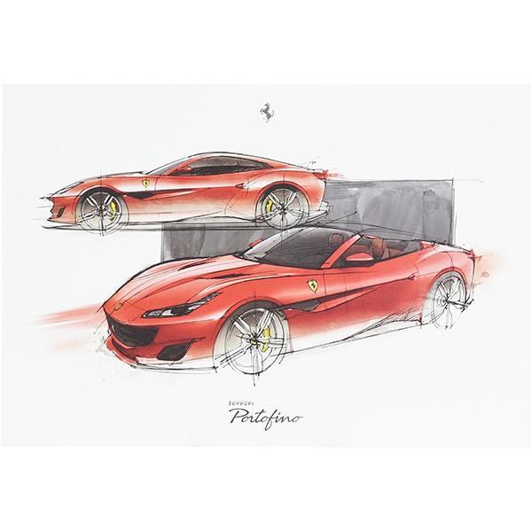 フェラーリ純正 Portofino VIPゲスト用リトグラフ|itazatsu
