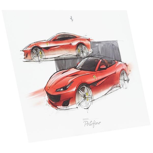 フェラーリ純正 Portofino VIPゲスト用リトグラフ|itazatsu|02