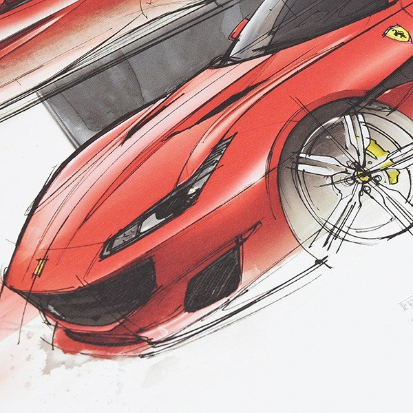 フェラーリ純正 Portofino VIPゲスト用リトグラフ itazatsu 03