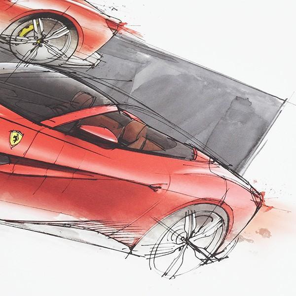 フェラーリ純正 Portofino VIPゲスト用リトグラフ|itazatsu|04