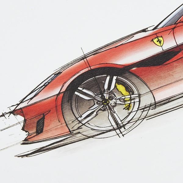 フェラーリ純正 Portofino VIPゲスト用リトグラフ|itazatsu|05