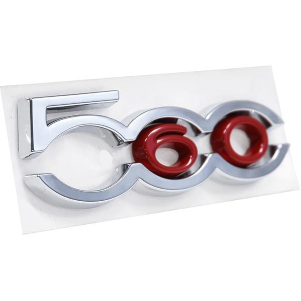 フィアット純正 500 60th Limited Edition Bピラーロゴエンブレム左右セット|itazatsu|02