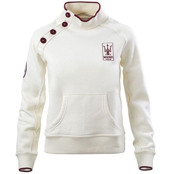 マセラティ純正 ショルダーボタンスウェットシャツ(オフホワイト)|itazatsu