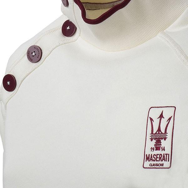 マセラティ純正 ショルダーボタンスウェットシャツ(オフホワイト)|itazatsu|04