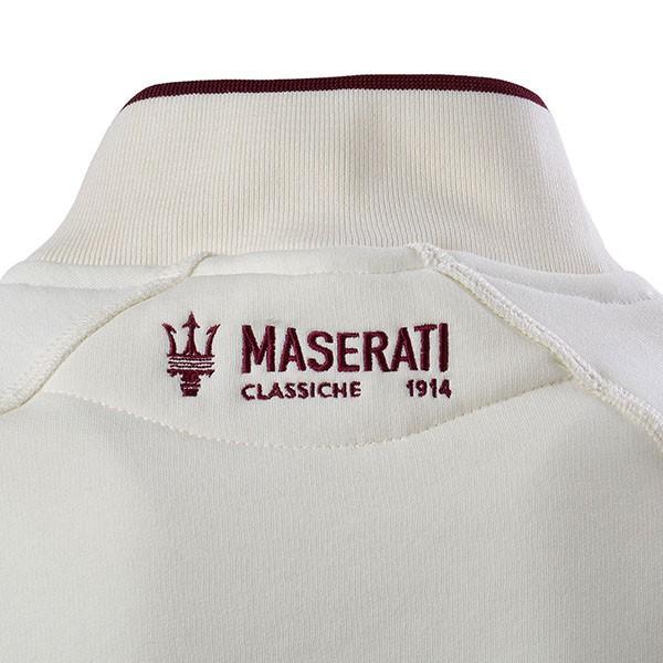 マセラティ純正 ショルダーボタンスウェットシャツ(オフホワイト)|itazatsu|05