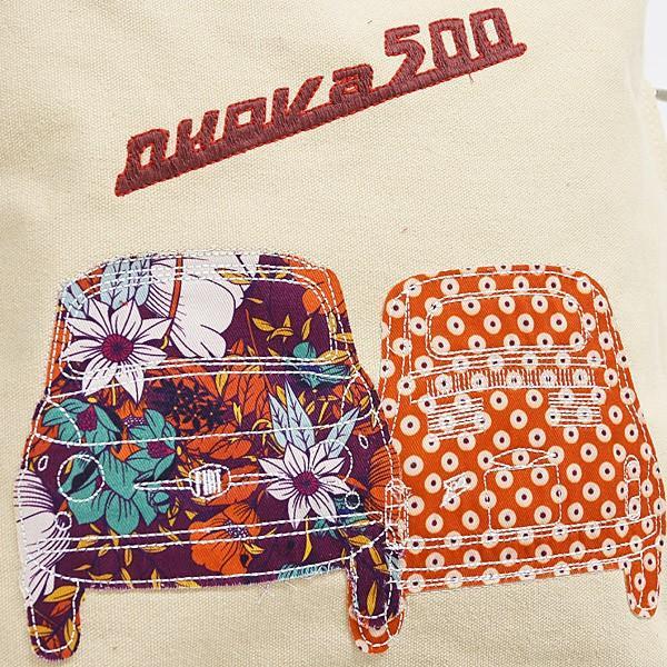 フィアット純正 Nuova 500キャンバストートバッグ(ベージュ)|itazatsu|03