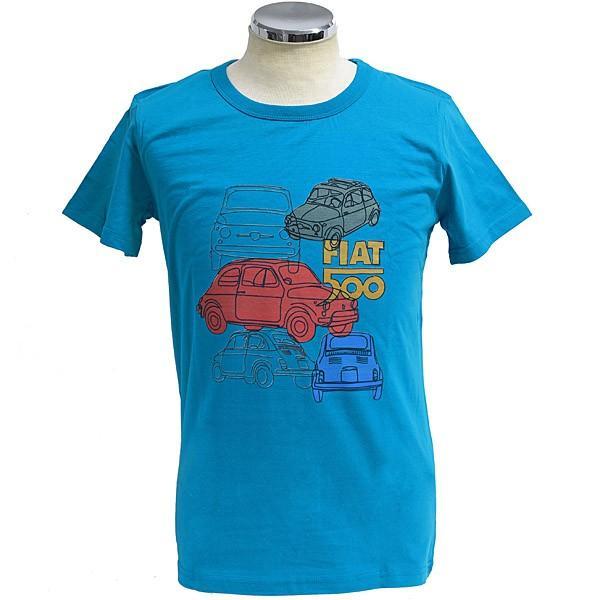 フィアット純正 Nuova 500 Tシャツ(ブルー)|itazatsu