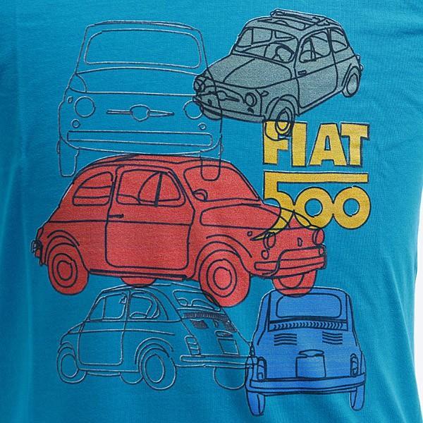 フィアット純正 Nuova 500 Tシャツ(ブルー)|itazatsu|02