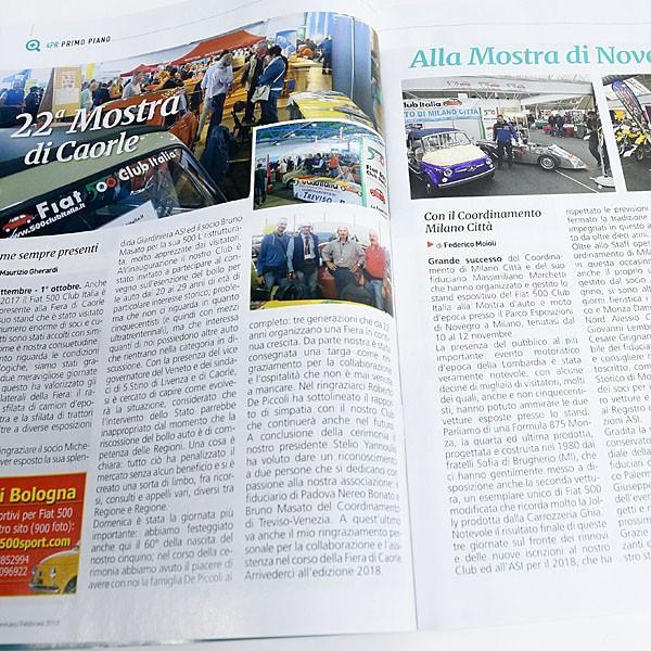 フィアット FIAT 500 CLUB ITALIA 会報誌 2018年No.1|itazatsu|03